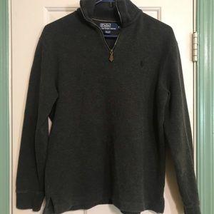 Polo Ralph Lauren gray sweater 1/4 zipper small